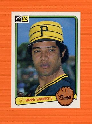 1983 Donruss Baseball #502 Manny Sarmiento - Pittsburgh Pirates