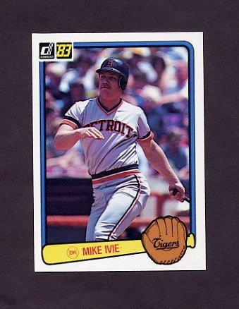 1983 Donruss Baseball #485 Mike Ivie - Detroit Tigers