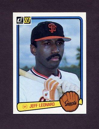 1983 Donruss Baseball #474 Jeff Leonard - San Francisco Giants