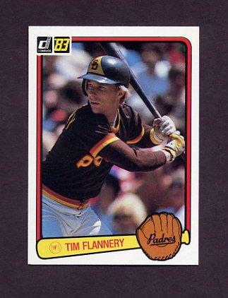 1983 Donruss Baseball #472 Tim Flannery - San Diego Padres