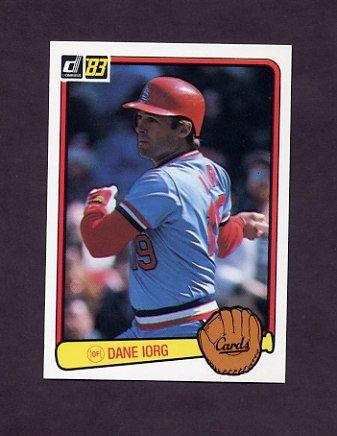 1983 Donruss Baseball #469 Dane Iorg - St. Louis Cardinals