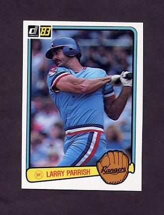 1983 Donruss Baseball #467 Larry Parrish - Texas Rangers