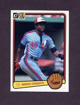 1983 Donruss Baseball #466 Warren Cromartie - Montreal Expos