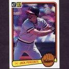 1983 Donruss Baseball #463 Jack Perconte - Cleveland Indians