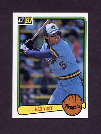 1983 Donruss Baseball #458 Ned Yost - Milwaukee Brewers