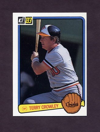 1983 Donruss Baseball #457 Terry Crowley - Baltimore Orioles