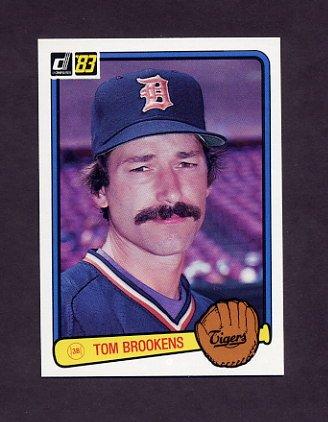 1983 Donruss Baseball #454 Tom Brookens - Detroit Tigers
