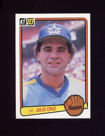 1983 Donruss Baseball #379 Julio Cruz - Seattle Mariners