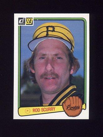 1983 Donruss Baseball #376 Rod Scurry - Pittsburgh Pirates