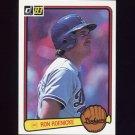 1983 Donruss Baseball #327 Ron Roenicke - Los Angeles Dodgers