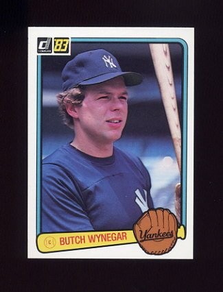 1983 Donruss Baseball #325 Butch Wynegar - New York Yankees