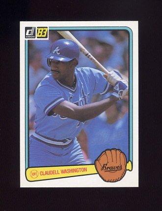 1983 Donruss Baseball #249 Claudell Washington - Atlanta Braves