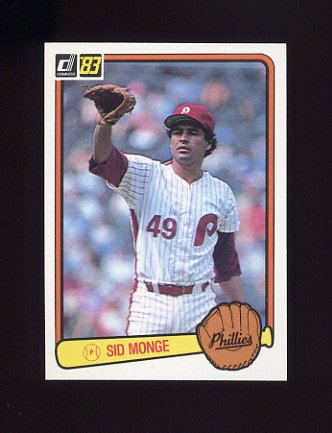 1983 Donruss Baseball #245 Sid Monge - Philadelphia Phillies