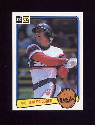 1983 Donruss Baseball #243 Tom Paciorek - Chicago White Sox