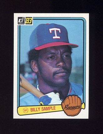 1983 Donruss Baseball #242 Billy Sample - Texas Rangers