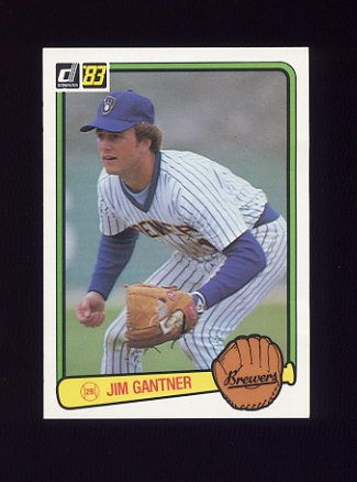 1983 Donruss Baseball #232 Jim Gantner - Milwaukee Brewers
