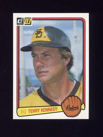 1983 Donruss Baseball #220 Terry Kennedy - San Diego Padres
