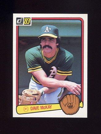 1983 Donruss Baseball #213 Dave McKay - Oakland A's