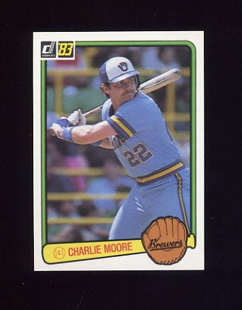 1983 Donruss Baseball #206 Charlie Moore - Milwaukee Brewers