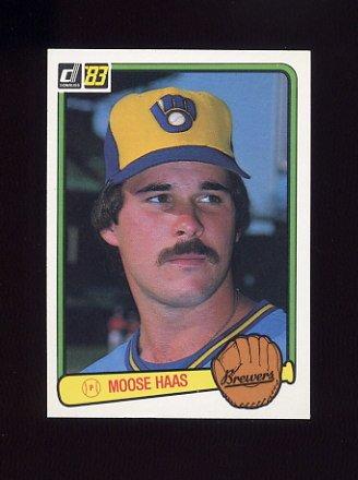 1983 Donruss Baseball #204 Moose Haas - Milwaukee Brewers