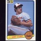 1983 Donruss Baseball #203 Sammy Stewart - Baltimore Orioles