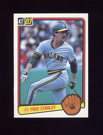 1983 Donruss Baseball #197 Fred Stanley - Oakland A's