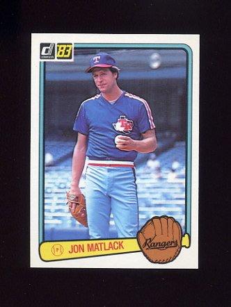 1983 Donruss Baseball #195 Jon Matlack - Texas Rangers