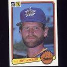 1983 Donruss Baseball #181 Larry Andersen - Seattle Mariners