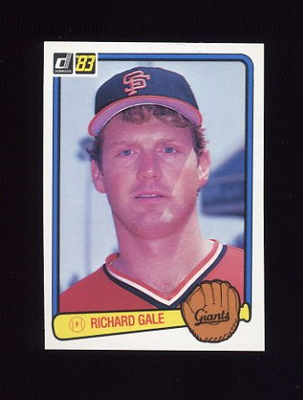 1983 Donruss Baseball #172 Rich Gale - San Francisco Giants