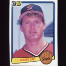 1983 Donruss Baseball #172 Rich Gale - San Francisco Giants