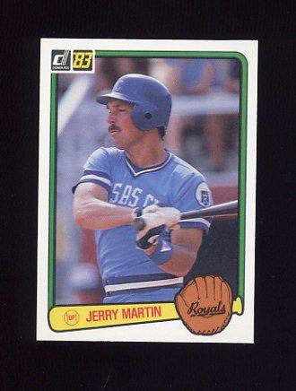 1983 Donruss Baseball #138 Jerry Martin - Kansas City Royals