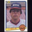 1983 Donruss Baseball #117 Vance Law - Chicago White Sox