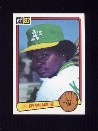 1983 Donruss Baseball #087 Kelvin Moore - Oakland A's