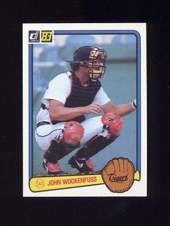 1983 Donruss Baseball #076 John Wockenfuss - Detroit Tigers