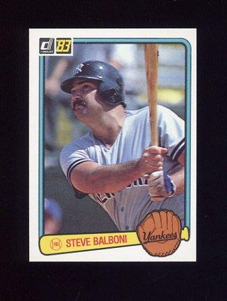 1983 Donruss Baseball #073 Steve Balboni - New York Yankees