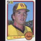1983 Donruss Baseball #061 Tim Lollar - San Diego Padres