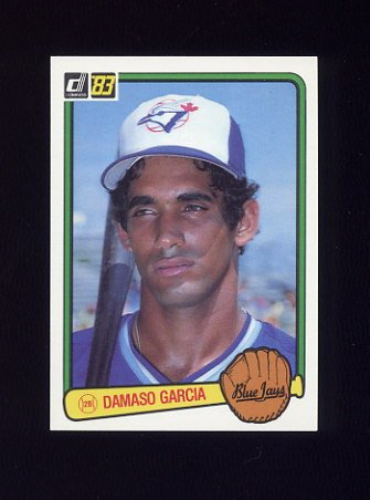 1983 Donruss Baseball #054 Damaso Garcia - Toronto Blue Jays