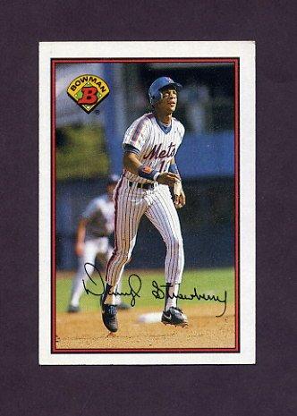 1989 Bowman Baseball #387 Darryl Strawberry - New York Mets