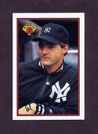 1989 Bowman Baseball #170 Al Leiter - New York Yankees