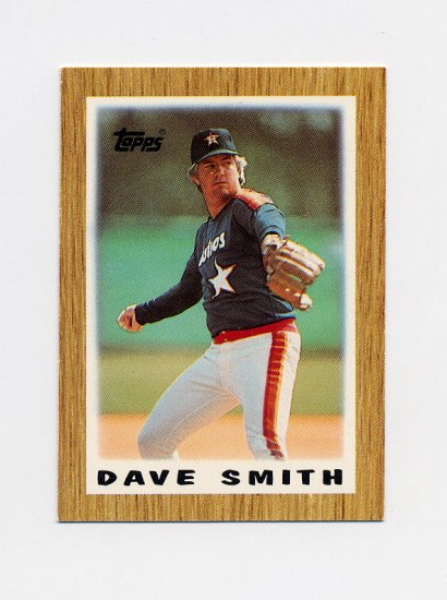 1987 Topps Mini Leaders Baseball #12 Dave Smith - Houston Astros