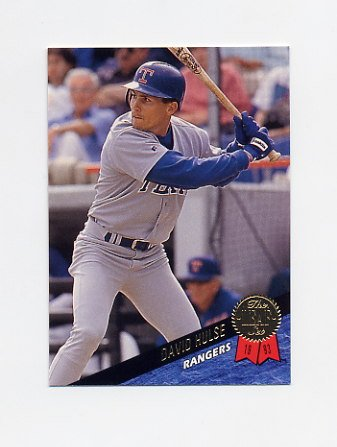 1993 Leaf Baseball #355 David Hulse RC - Texas Rangers