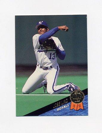 1993 Leaf Baseball #402 Jose Lind - Kansas City Royals