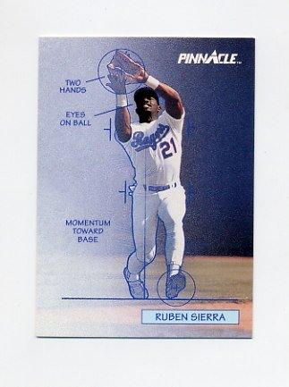 1992 Pinnacle Baseball #616 Ruben Sierra TECH - Texas Rangers