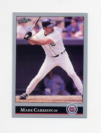 1992 Leaf Baseball #259 Mark Carreon - Detroit Tigers