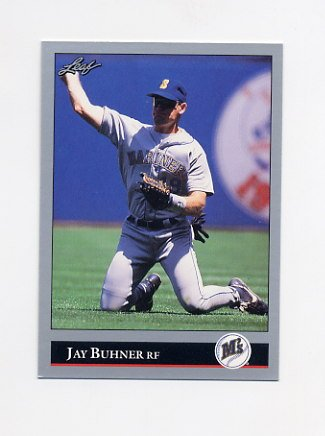 1992 Leaf Baseball #128 Jay Buhner - Seattle Mariners
