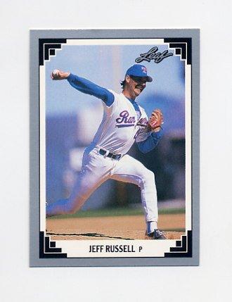 1991 Leaf Baseball #291 Jeff Russell - Texas Rangers
