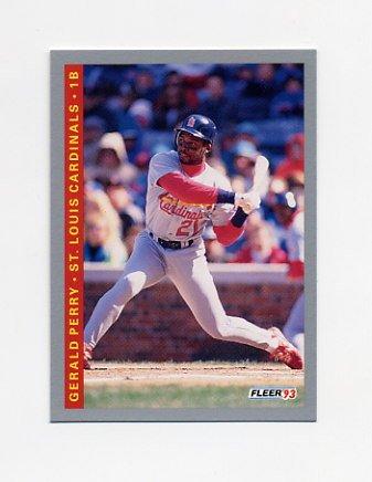 1993 Fleer Baseball #514 Gerald Perry - St. Louis Cardinals