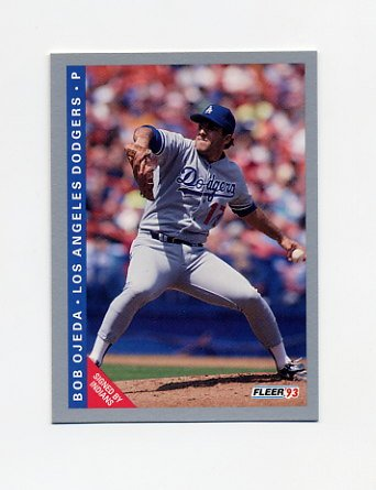 1993 Fleer Baseball #452 Bob Ojeda - Los Angeles Dodgers