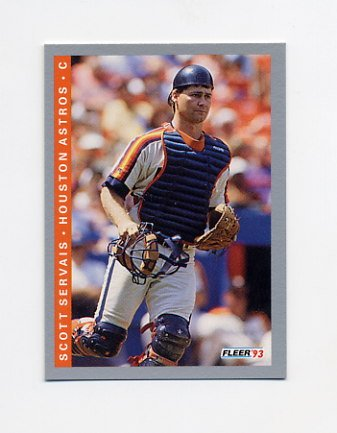 1993 Fleer Baseball #442 Scott Servais - Houston Astros