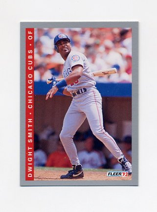 1993 Fleer Baseball #384 Dwight Smith - Chicago Cubs